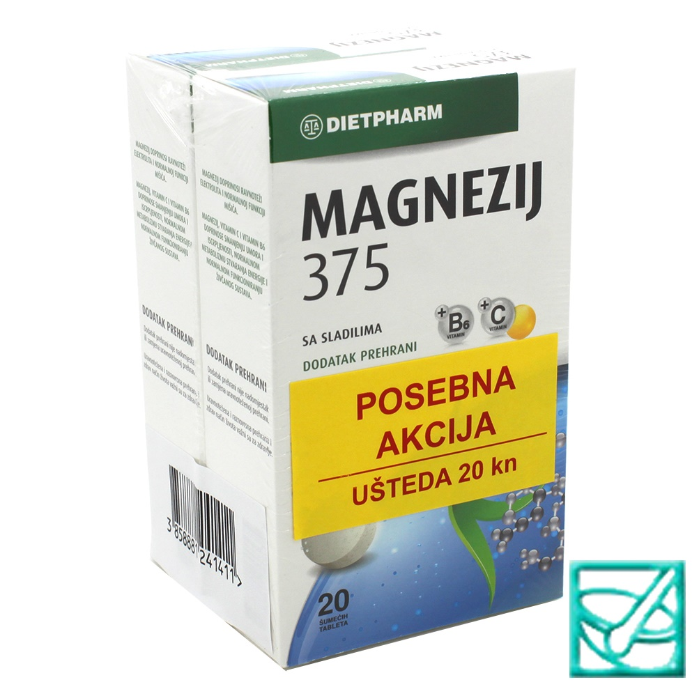 FIDI MAGNEZIJ 375 effer DUO PACK