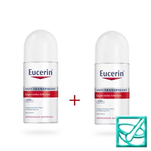 EUCERIN DEO rollon antitranspirant 50ml 1+1