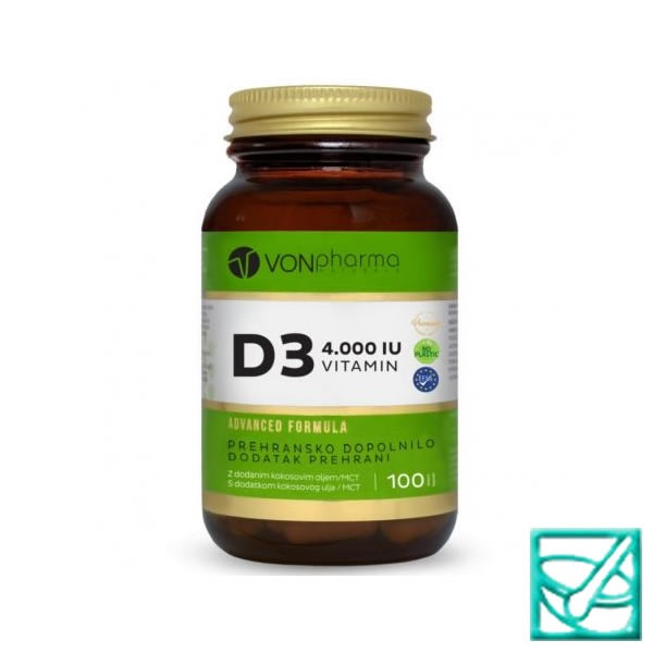 PHARMAHEALTH VITAMIN D3 4000IE caps a100